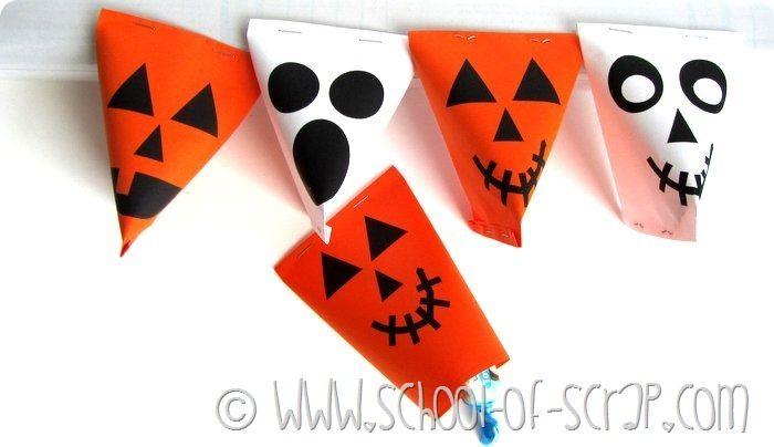 Halloween con i bambini: porta caramelle da stampare e costruire