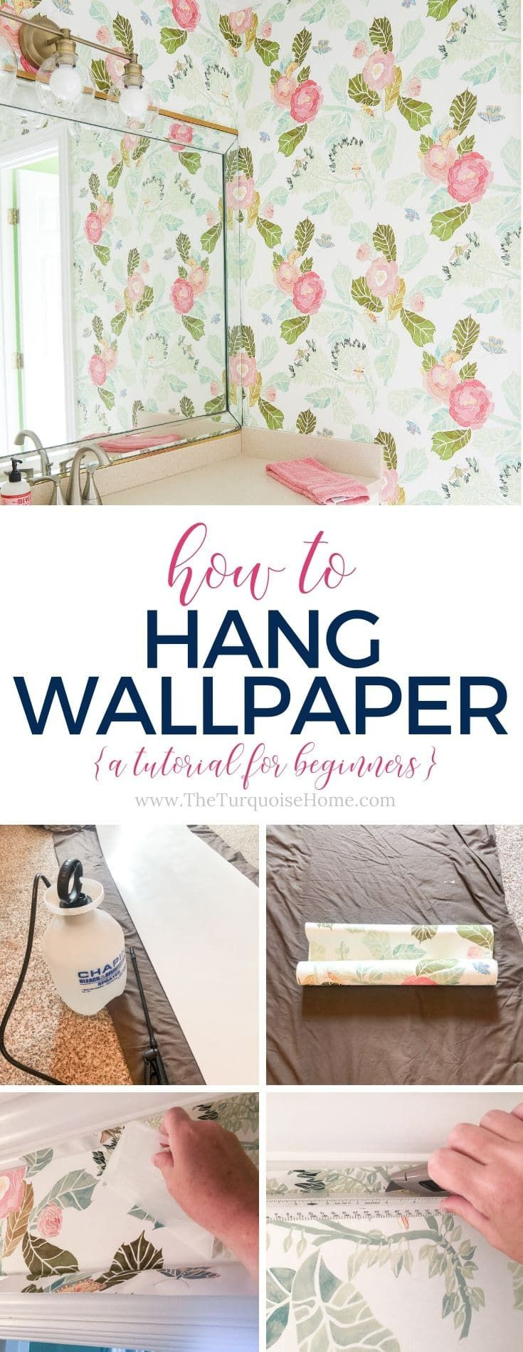 How To Hang Wallpaper Tutorial For Beginners How To Hang Wallpaper Work Diy Wallpaper Project