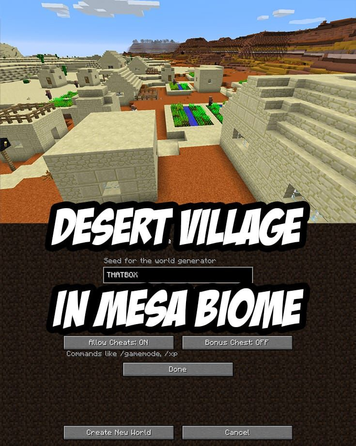 Mesa Village Seed Thatbox Mesa Village Is Near Spawn At 808 Y 376 Minecraft Blueprints Minecraft Construction Minecraft Houses