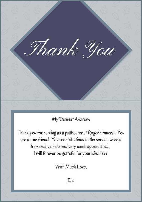 sample thank you note lovinglyy - funeral thank you note