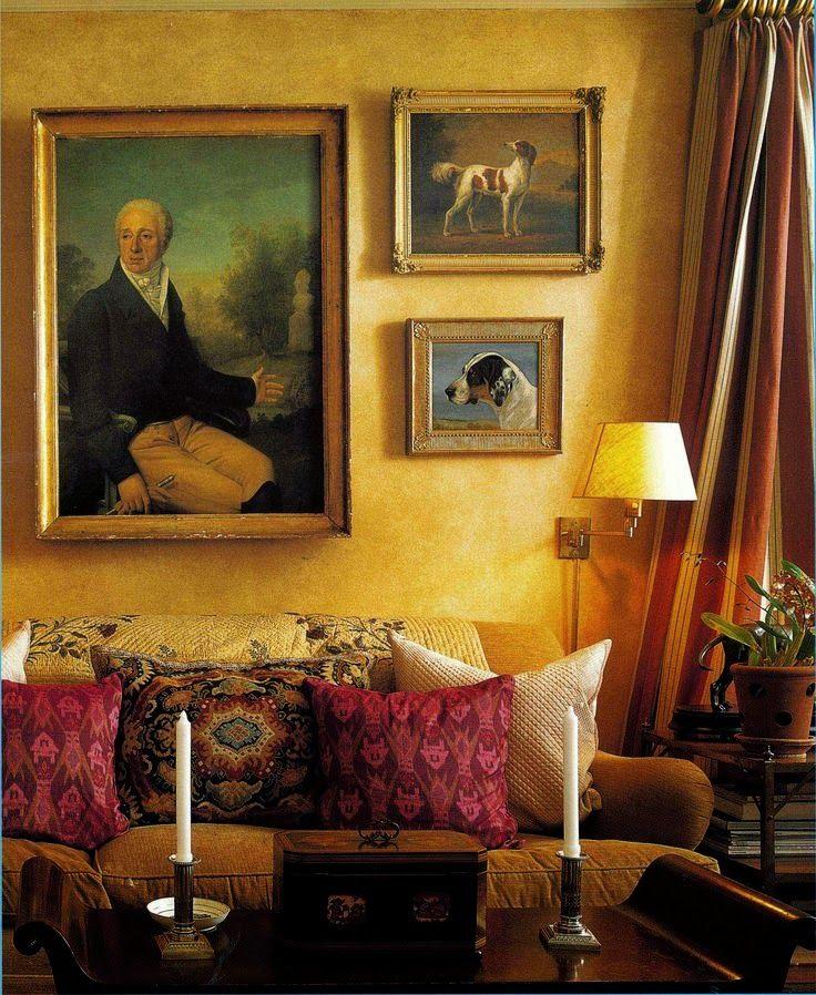 www.eyefordesignlfd.blogspot.com  Decorating With Canine Art....English And Elegant