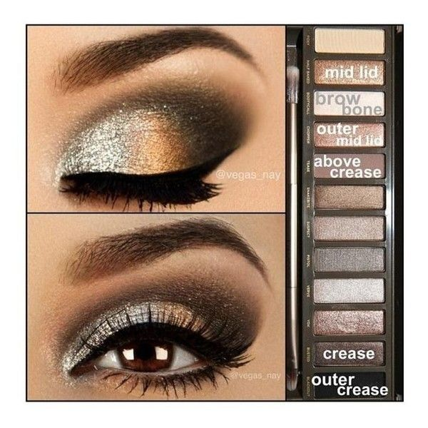 Makes me want the naked2 palette ❤ liked on Polyvore