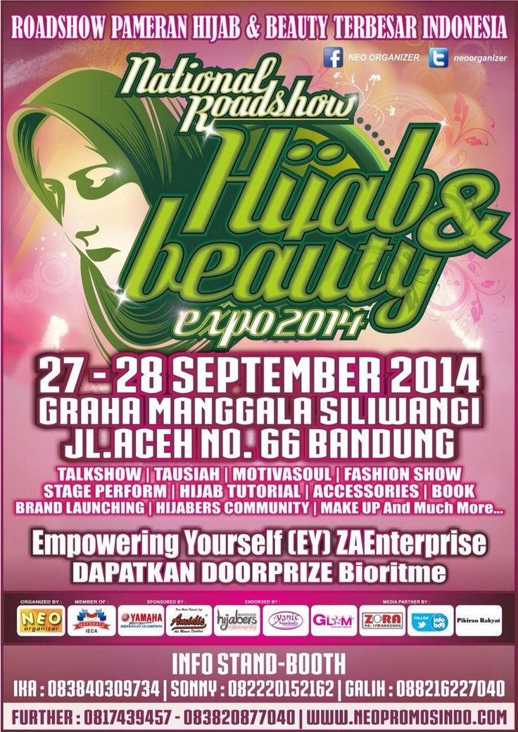 Hijab Beauty Expo 27-28 September 2014 At Graha Manggala Siliwangi Bandung #EventBDG