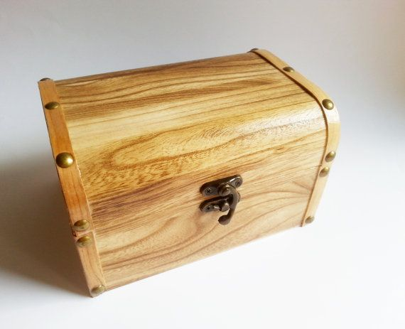 Wooden trunk trinket box wonderful color and by MKedraHandmade, $28.00