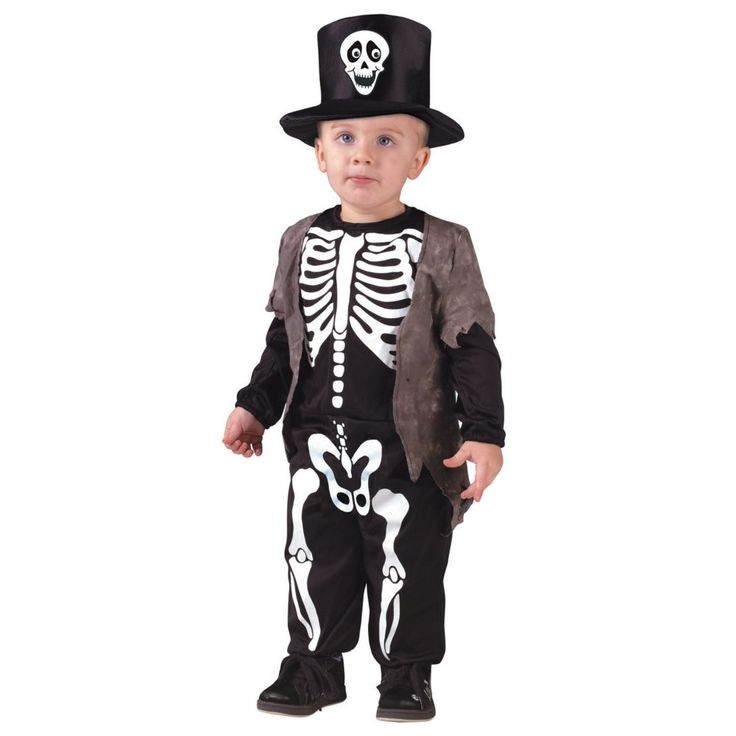 Toddler Happy Skeleton Halloween Costume - 3T-4T