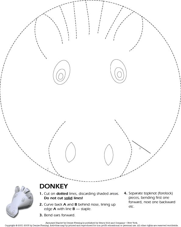 paper plate donkey craft