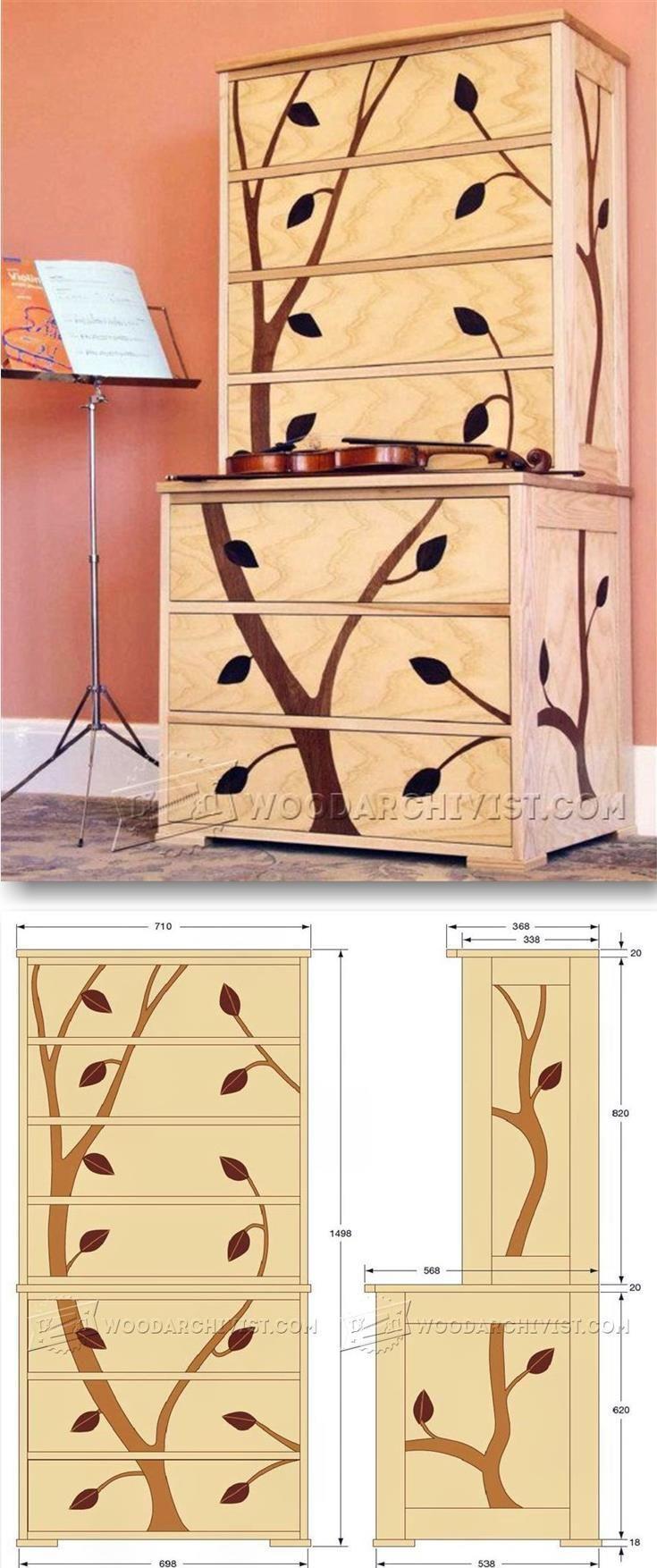 Marquetry Cabinet Plans - Furniture Plans and Projects | WoodArchivist.com | WoodArchivist.com