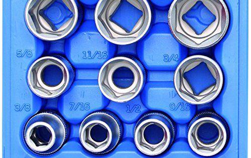 'BGS–clé à douille Chrome Vanadium 6182,4cm de 12,5mm 1/2Lot de 10: Jeu de douilles 12.5 (1/2), pouces, 10-pc. Cet article 'BGS–clé…
