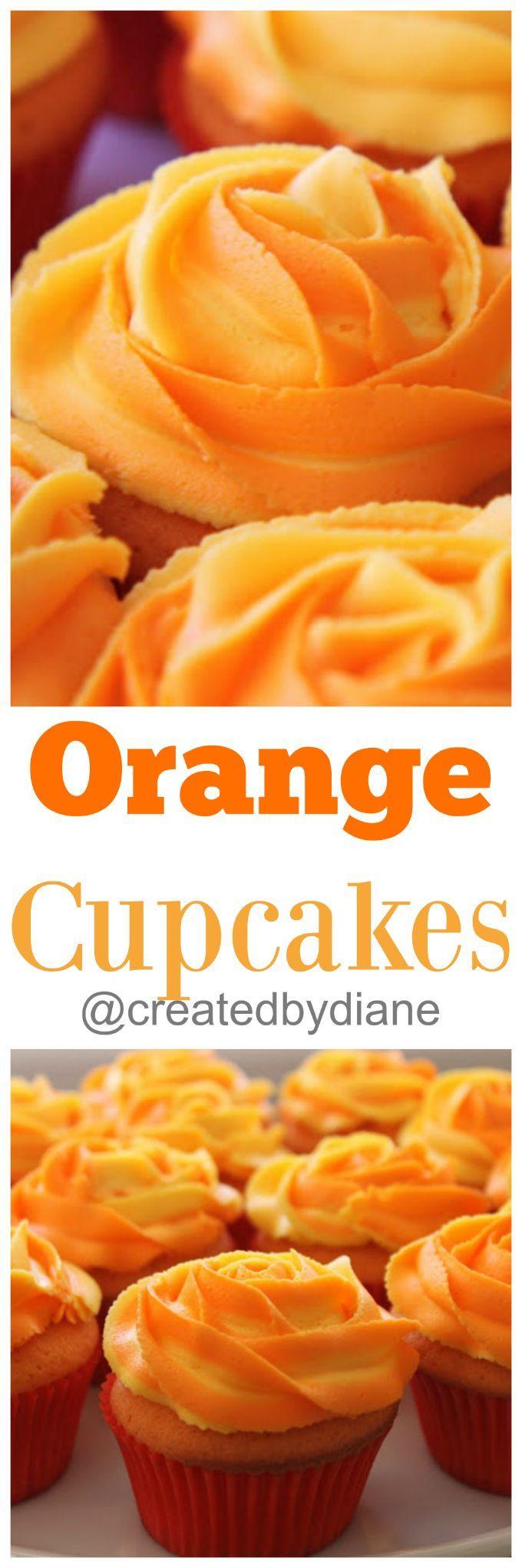 orange cupcakes @createdbydiane