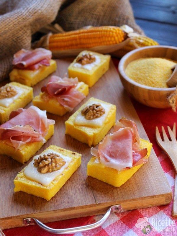 Crostini di polenta rustici