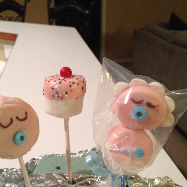 baby shower marshmallow pops shower ideas shower desserts baby
