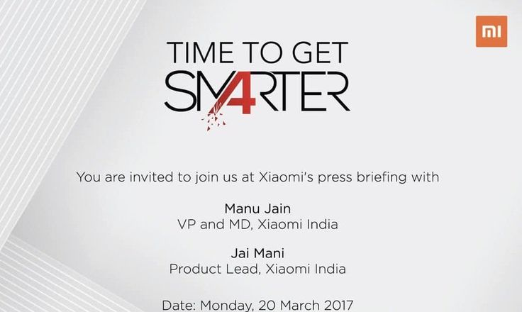Xiaomi India schedules a product launch event on March 20, 2017