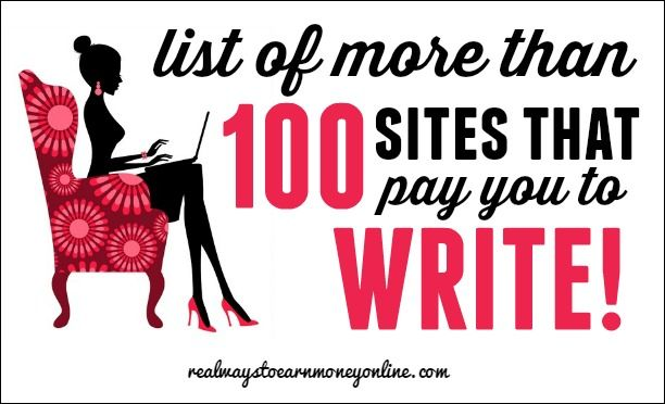 Big list of sites that pay you to write!