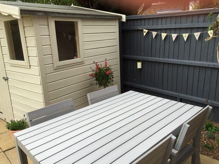 Grey Painted Garden Furniture