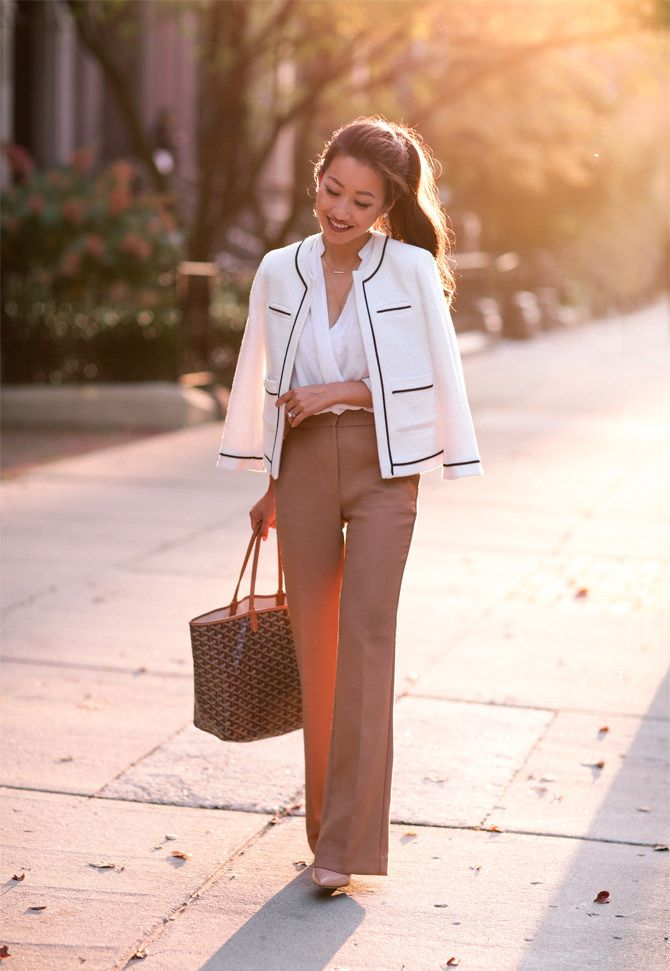 Classic in Camel // Wide leg pants for petites