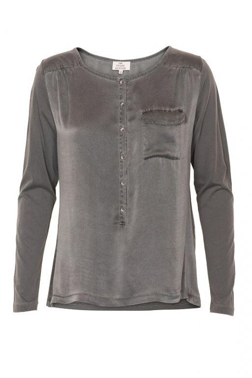 Denim Hunter Sally Blouse Dark Grey - Skjorter - MaMilla