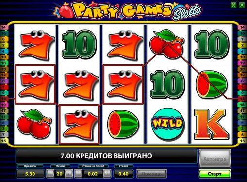 Party Games Slotto online - spil Novomatic slot gratis