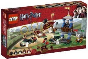 LEGO® Harry Potter? Quidditch Match 4737 by LEGO. $53.99. Spectator stands feature seating for Madam Hooch and hole for Quidditch players to fly through. Accessories include brooms, Quaffle and Bludgers, Golden Snitch, three goal posts, catapults and a Quidditch Trophy. 153 LEGO pieces. Unique to the set: Marcus Flint, Oliver Wood and Madam Rolanda Hooch. Includes 5 minifigures:  Harry Potter, Oliver Wood, Draco Malfoy, Marcus Flint and Madam Rolanda Hooch. From the Manufactu...