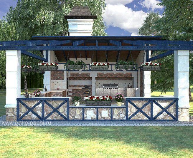 кухня-открытый домик в баварском стиле