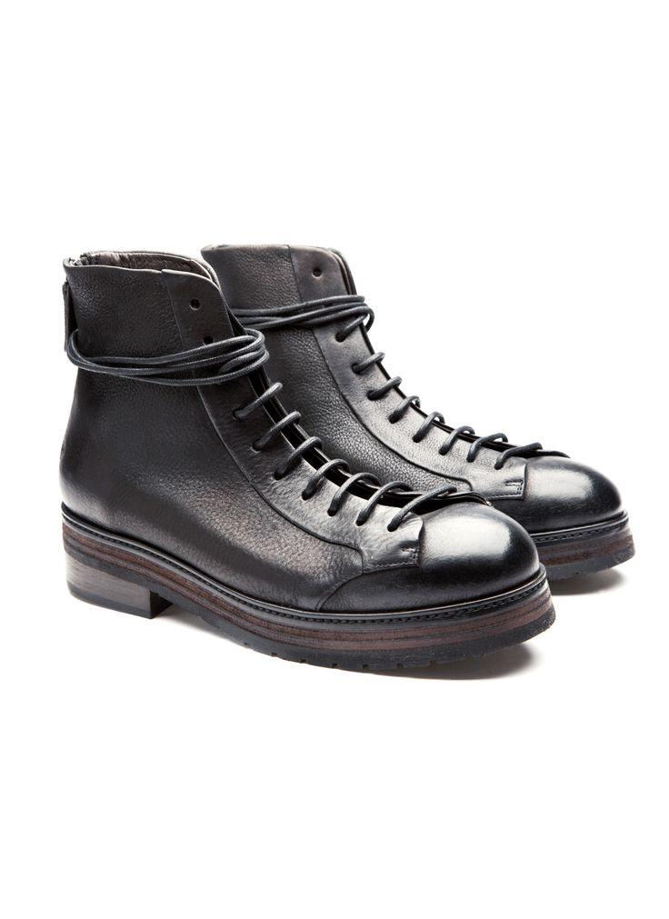Marsèll - Fall Winter 2014 - Menswear // Black Leather Boots