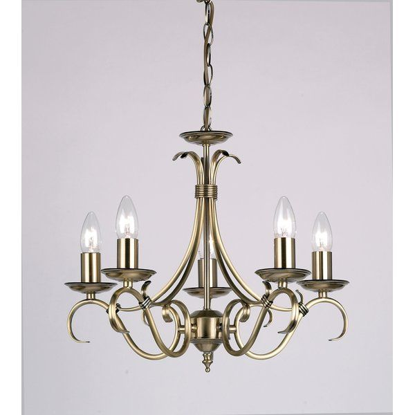 Barney 5 Light Candle Style Chandelier | Candle style
