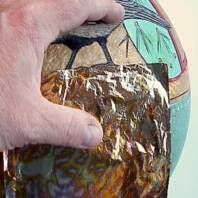 Using Gold Leaf on Gourds by Bonnie Gibson