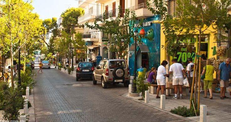 Agios Nikolaos, shopping area,