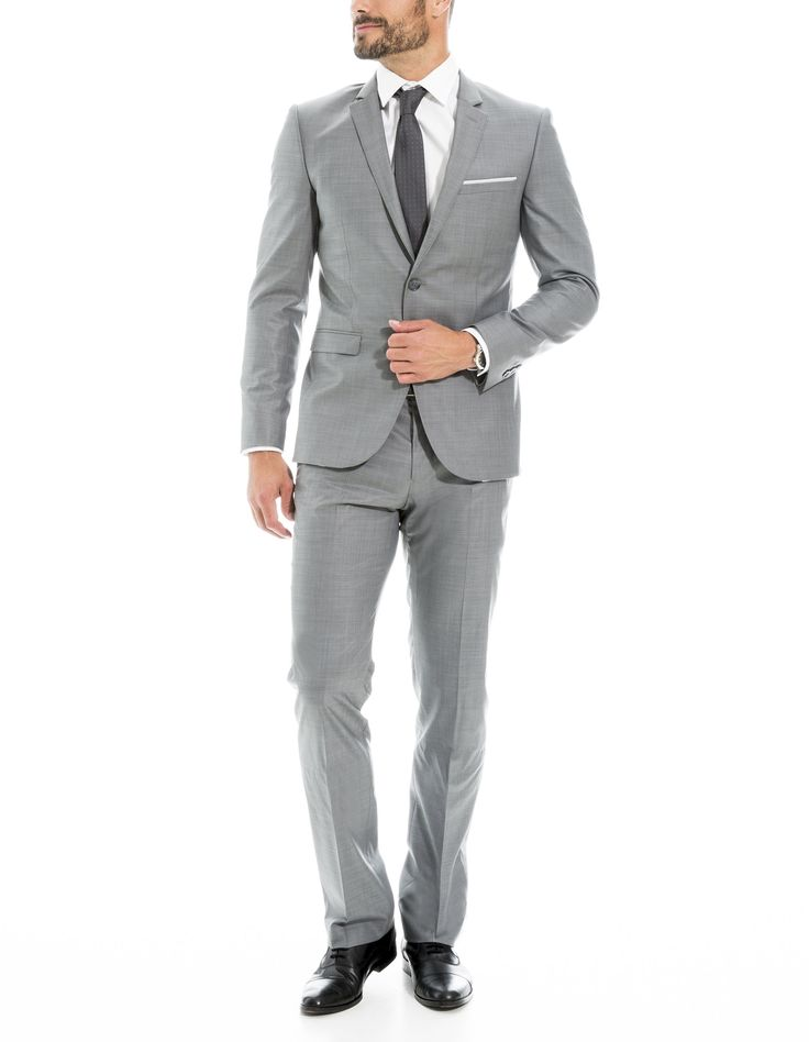 Costume gris clair, coupe regular - Costume complet Homme - Brice-FR
