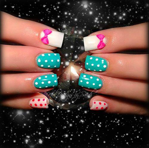 Top 70 Cute Bow Nail Art Designs  #nailswithbows #naildesigns