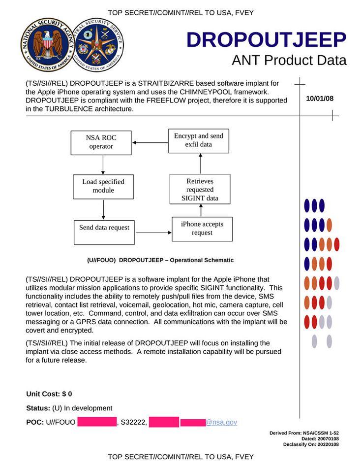 La NSA hacke les iPhones dans le monde depuis 2008