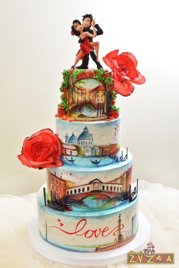 VeniceBelgrade=LOVE by Nasa Mala Zavrzlama - http://cakesdecor.com/cakes/249345-venice-belgrade-love