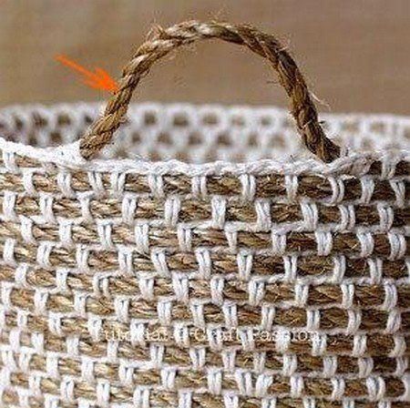 Crochet Rope Basket : crochet basket ..cotton over jute tricpatchbrod3 Pinterest