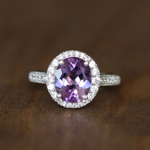 Hey, I found this really awesome Etsy listing at https://www.etsy.com/listing/200909098/vintage-inspired-amethyst-engagement