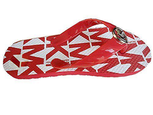Michael Kors Jet Set Flip Flop Size 4 Red flip flops *** Click image for more details.