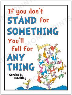 Love this! YOUR CHOICE of one Dr. Seuss LDS Youth posters by MomoPrints, $8.00