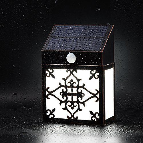 Outdoor Solar Led Wall Light Retro Vintage Style Motion Sensor Waterproof NEW  #Pandawill