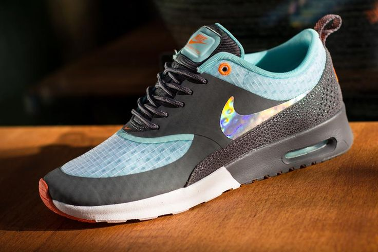 Nike Air Max Thea dark grey glacier blue holographic trainer