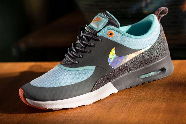 Nike Air Max Thea dark grey glacier blue holographic trainer