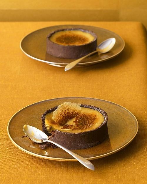 Black Licorice Creme Brulee Tarts ~ mmmmmmm - Martha Stewart  Recipes