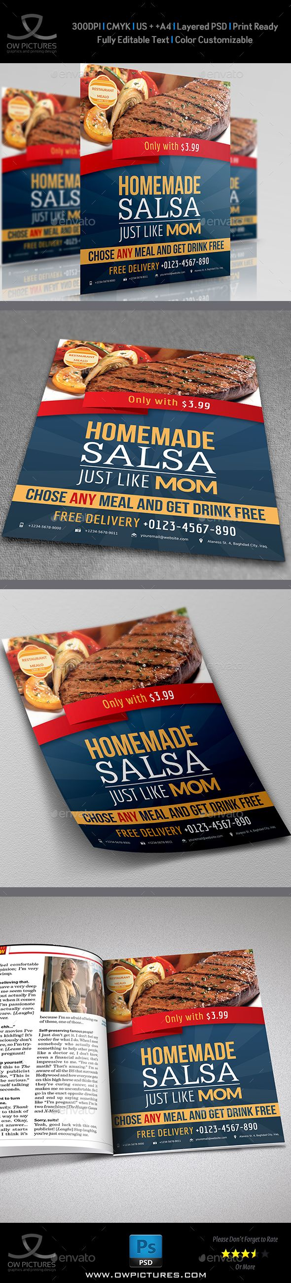 Restaurant Flyer Template Vol.3 - Restaurant Flyers