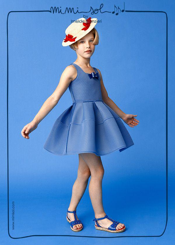 #Night blue, #marine blue...which game can I invent? #MiMiSol #imeldebronzieri #blue #dress #summer #SS14 #girl #fashion #childrenswear