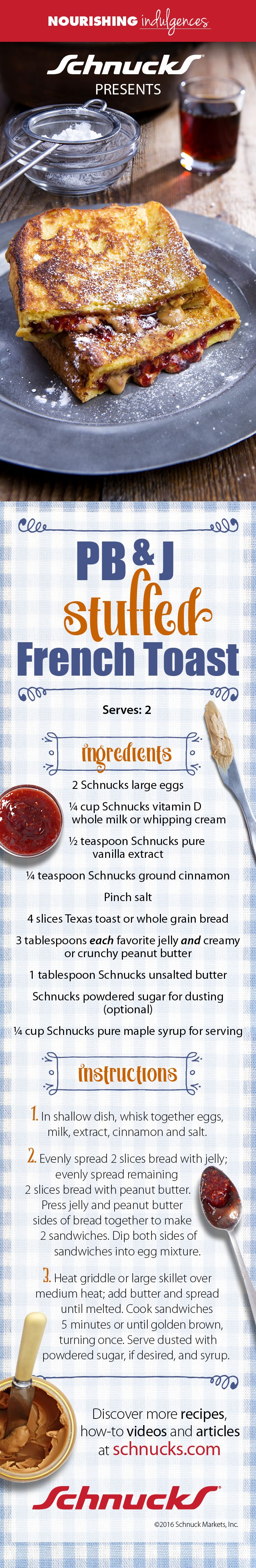 If you LOVE french toast and PB&J sandwiches, then PB&J Stuffed French…