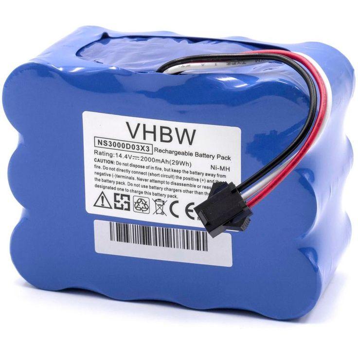 vhbw NiMH battery 2000mAh (14.4V) for robot vacuum cleaner Home Cleaner robot domestic robots JNB-XR210, JNB-XR210B, JNB-XR210C – 148547244-10