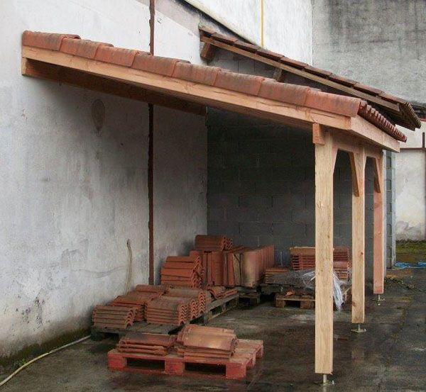 Auvent Terrasse Appenti Bois Carport Tradi Hubby Projects