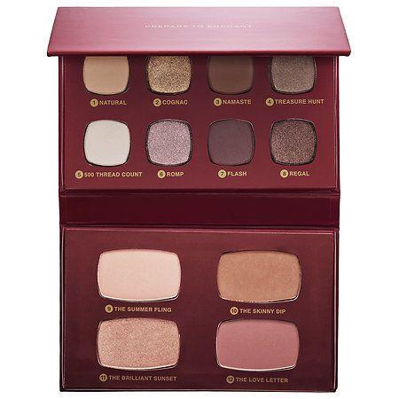 Lo que es:Una paleta irrealmente elegante, que incluye un bronzer, iluminador, ocho sombras de ojos y dos blushes, en tonos perfectamente coordinad...