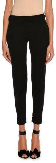 Tom Ford Slim-Fit Gabardine Cuffed Pants