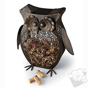 Owl Wine Cork Catcher. Want.Decor, Wine Corks, Wine Enthusiast, Corks Catchers, Gift Ideas, Home Bar, Antiques Bronze, Corks Cages, Owls Wine