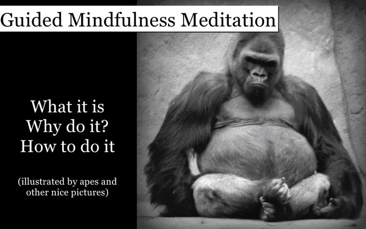 Guided mindfulness meditation - What is mindful meditation & how to do it   by Yvette Bordley via slideshare