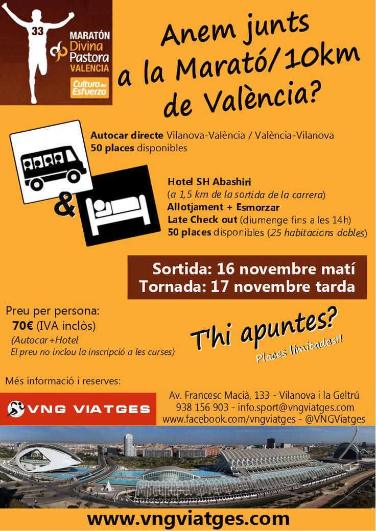 Viaje deportivo organizado a la Maratón / 10 Km de Valencia 2013 - VNG Viatges