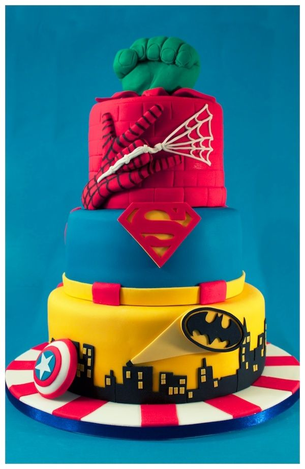 Superhero Tiered Cake on Behance